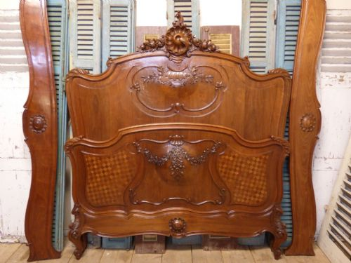 Lovely Antique French King Size Bed - fd89 - SOLD